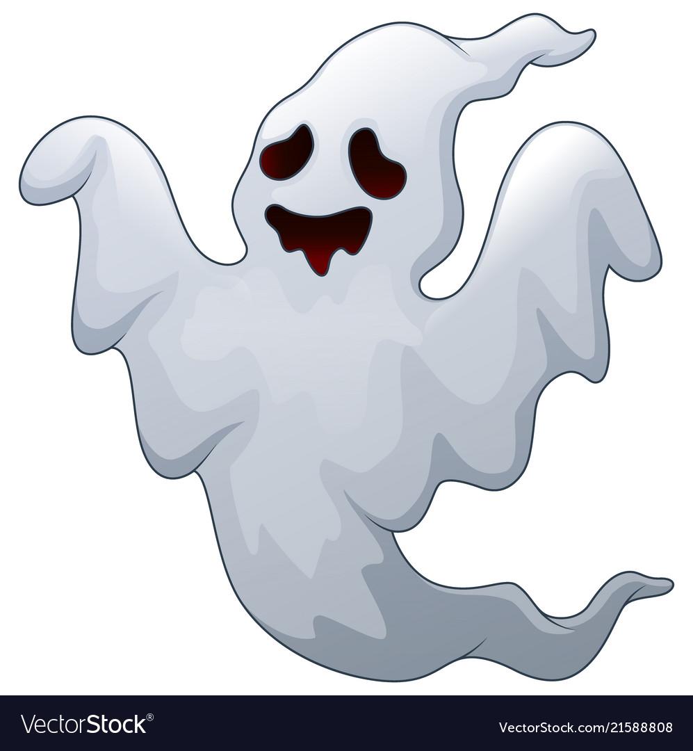 Spooky halloween ghost Royalty Free Vector Image