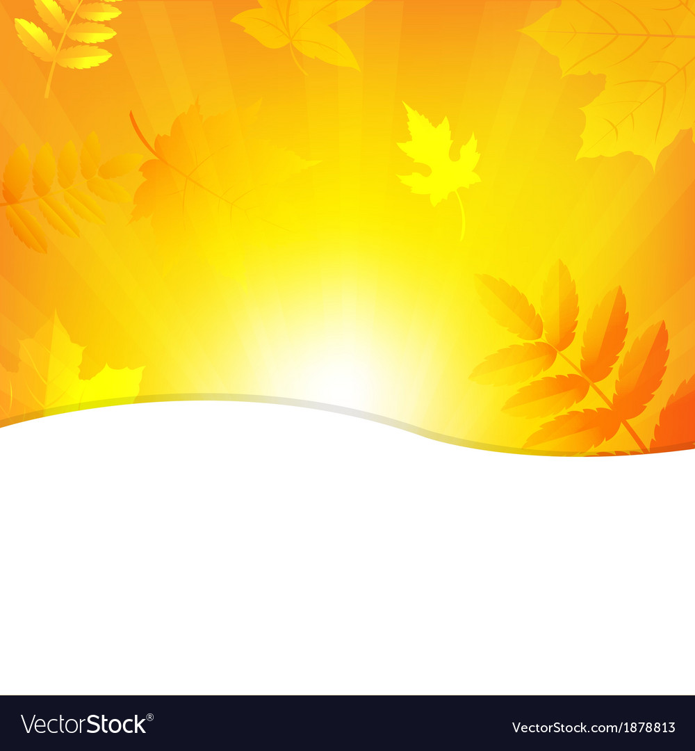 Autumn Background With Beams And Leaves