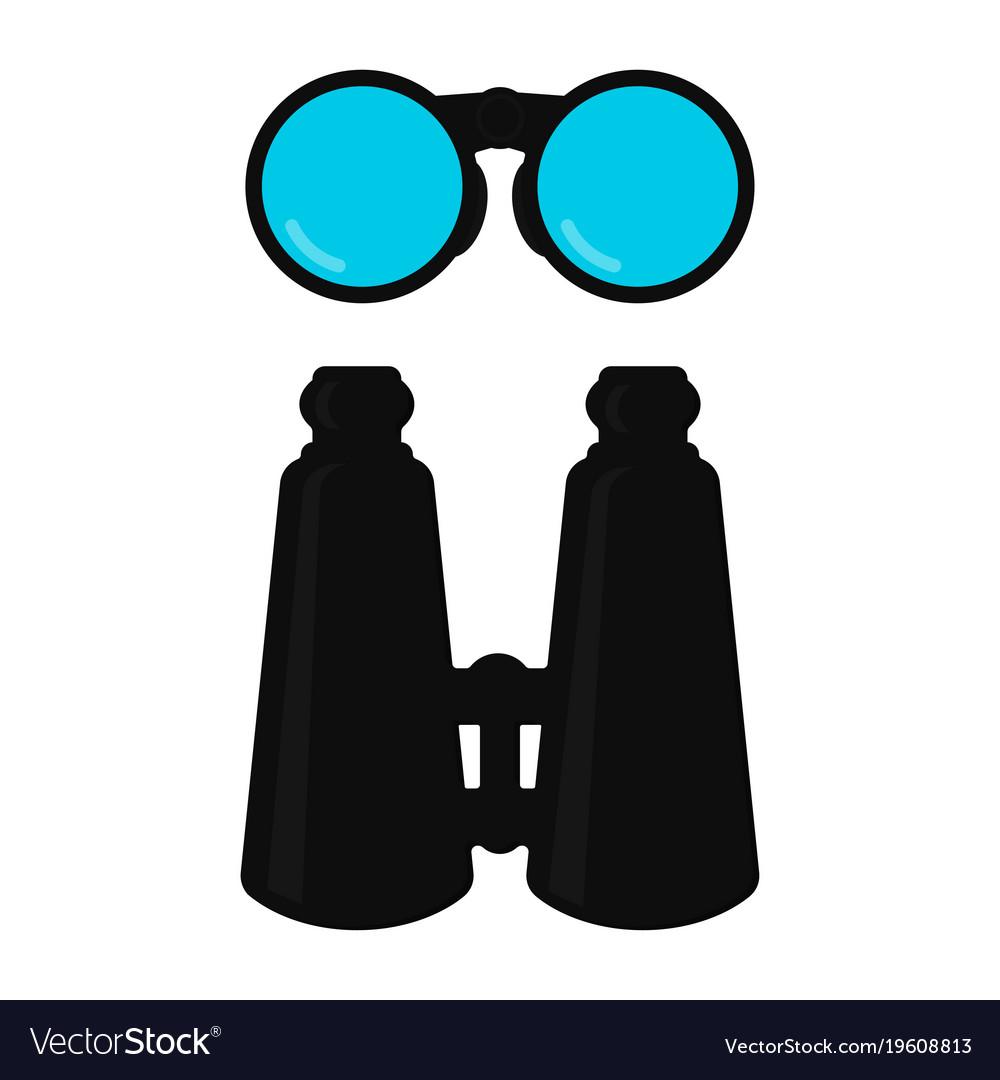 Binoculars isolated on white background vector image