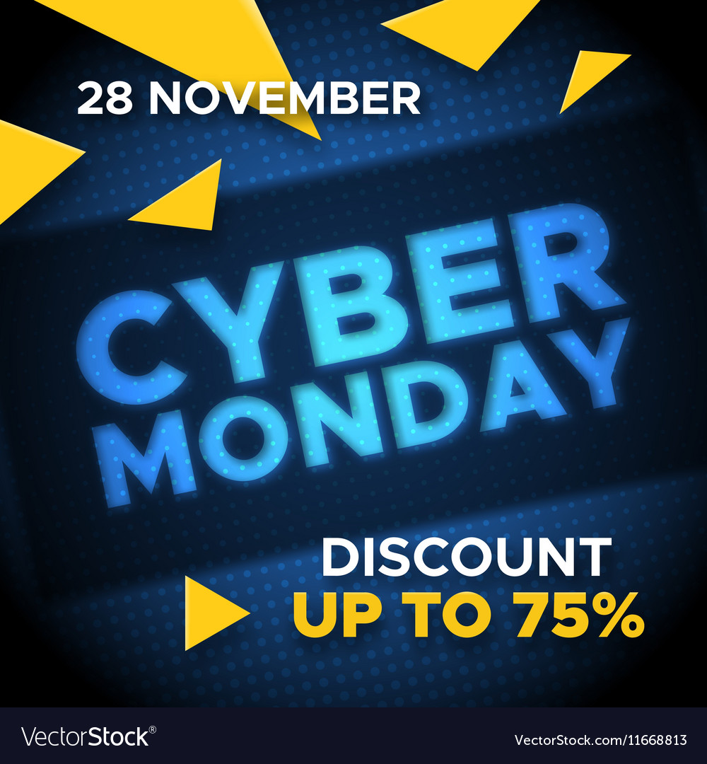 Cyber Monday promo banner background