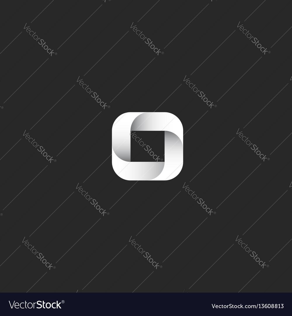 Logo o letter gradient square geometric shape