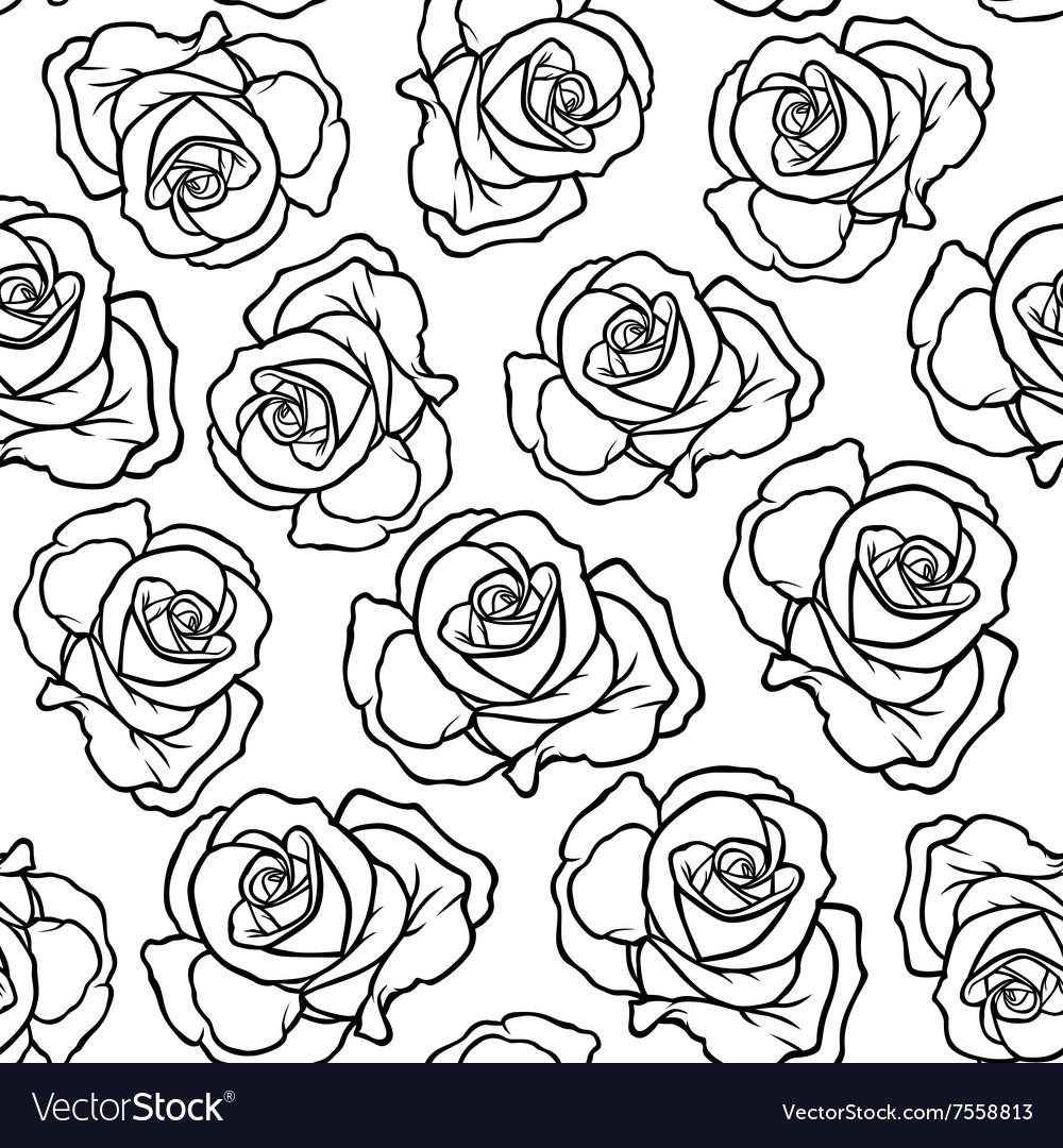 Rose contour pattern