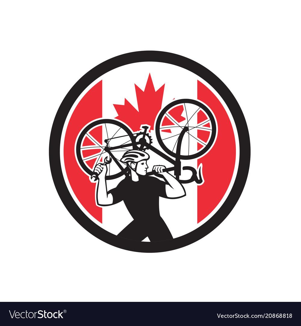 Canadian bike mechanic canada flag icon