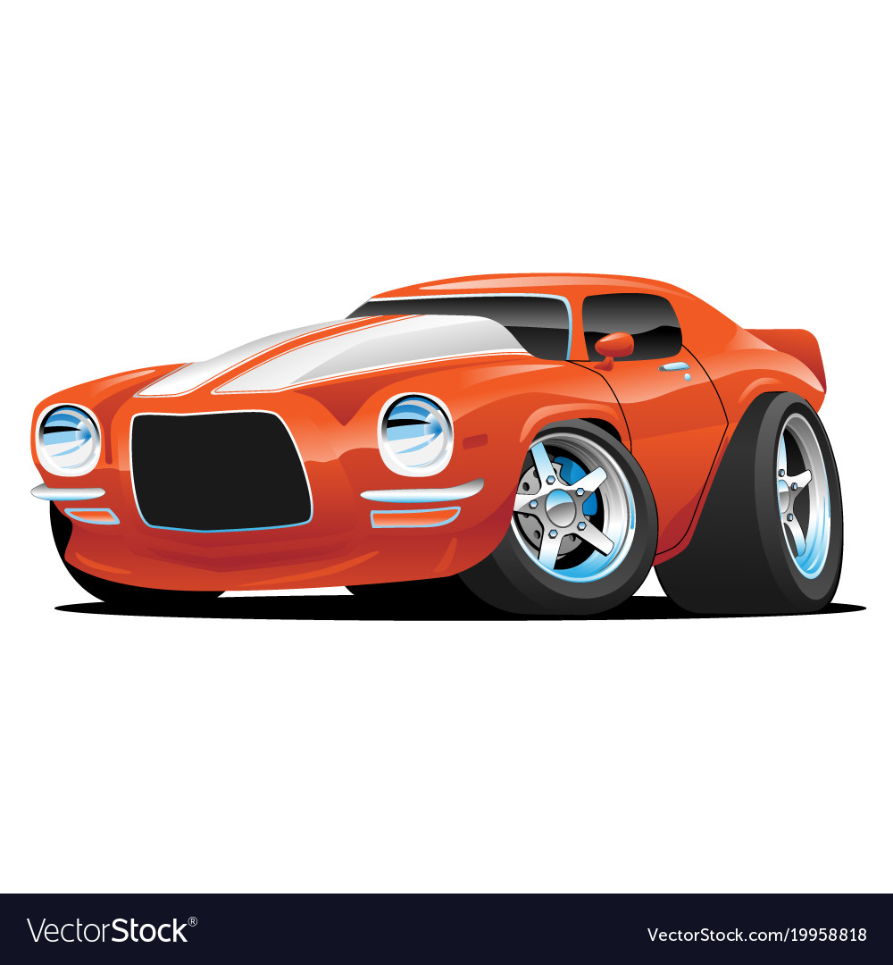 Classic Muscle Car Cartoon Royalty Free Vector Image