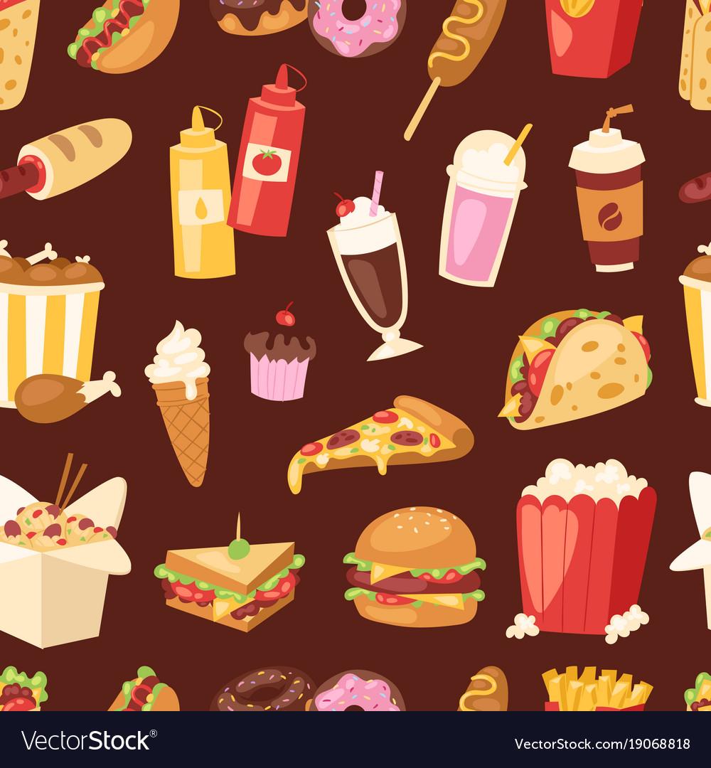 Fast food unhealthy cartoon burger sandwich