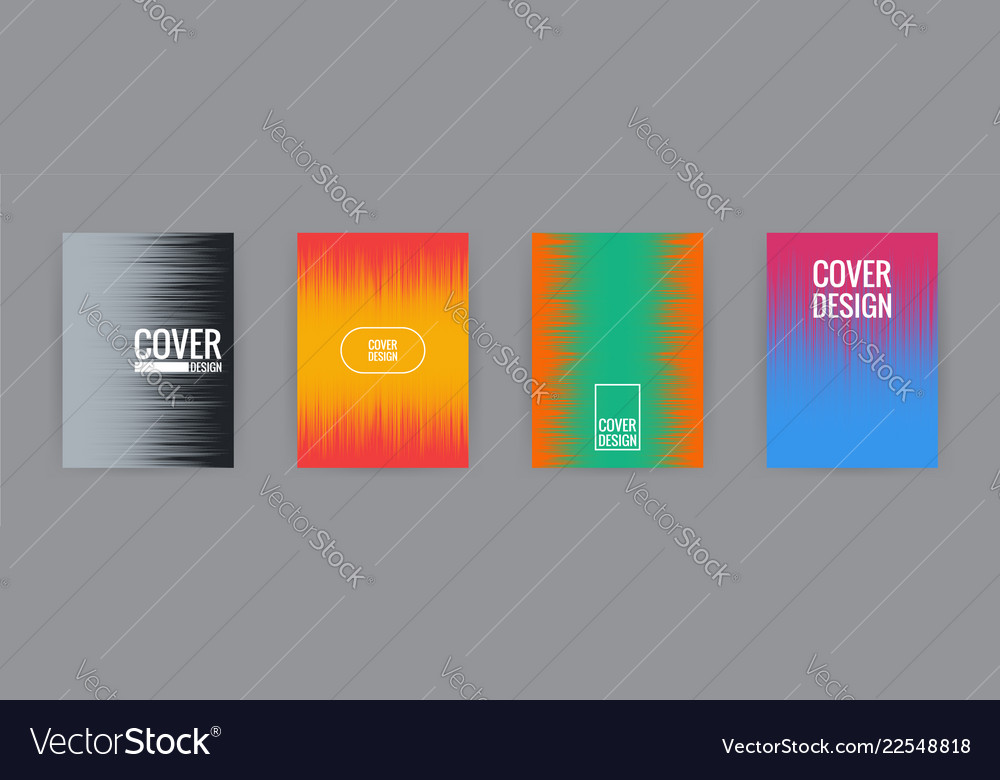 Set of cover background design template