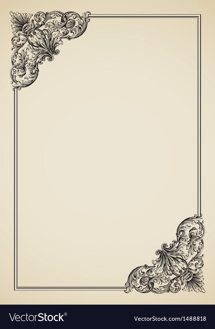 Victorian Border vector image