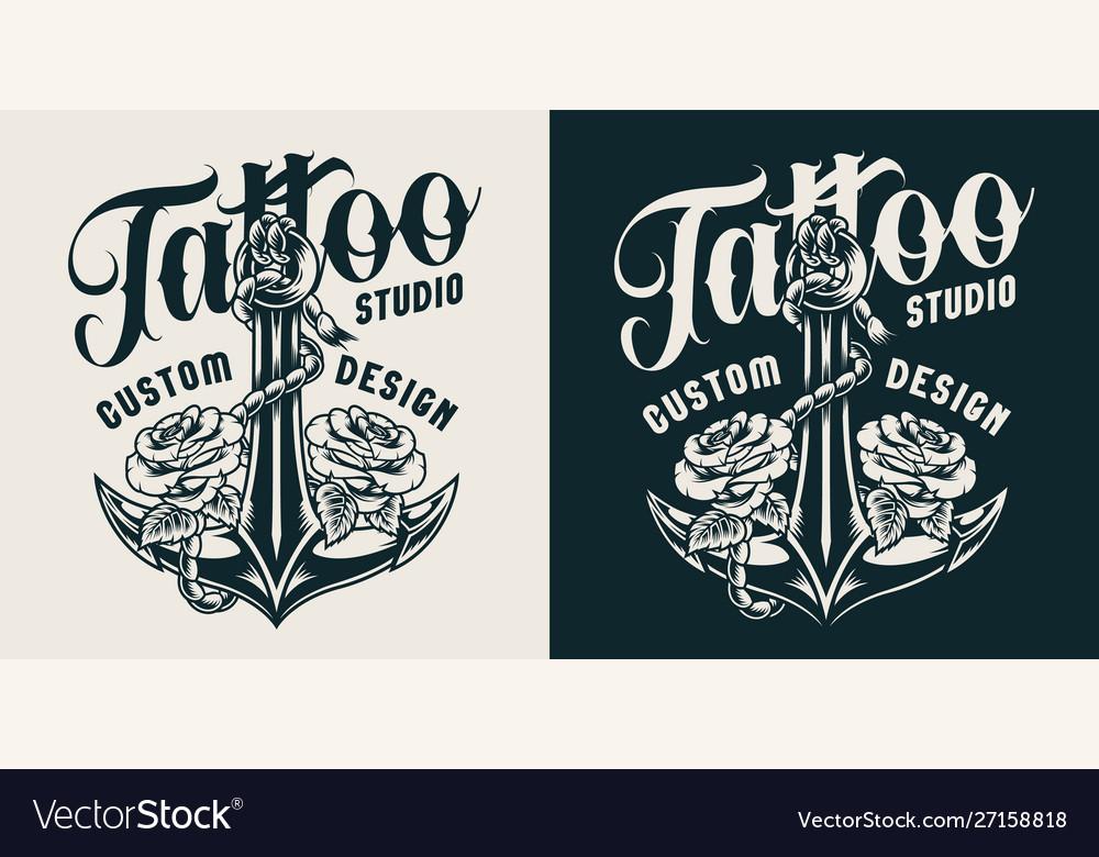 Vintage tattoo studio print