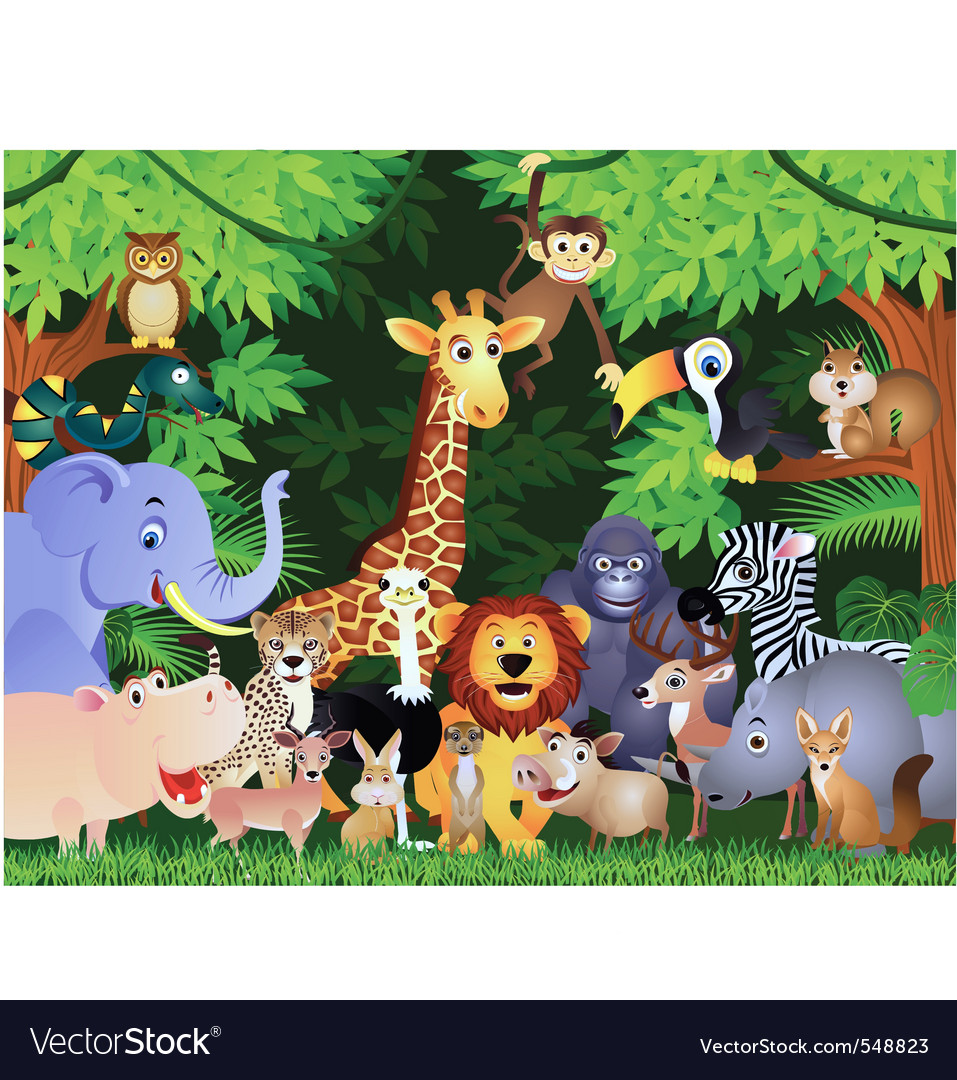 Animals cartoon Royalty Free Vector Image - VectorStock
