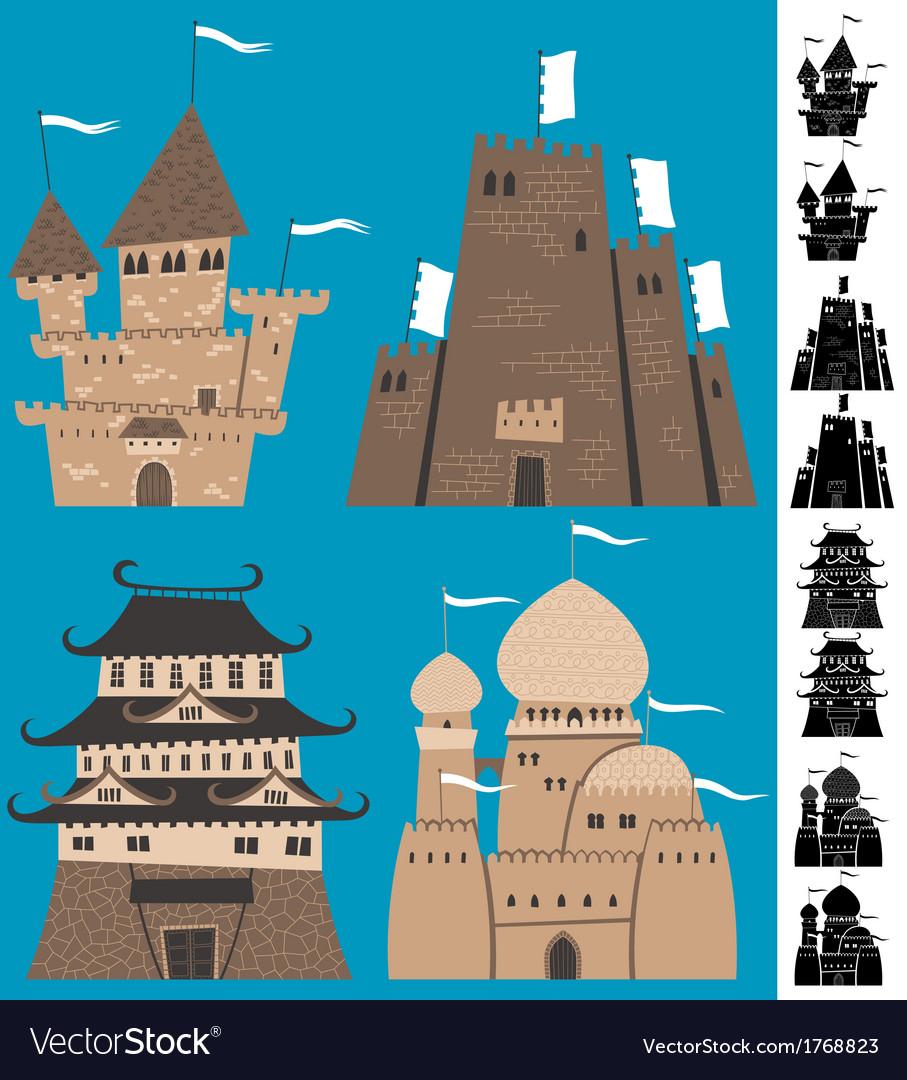 Cartoon Castles vector image