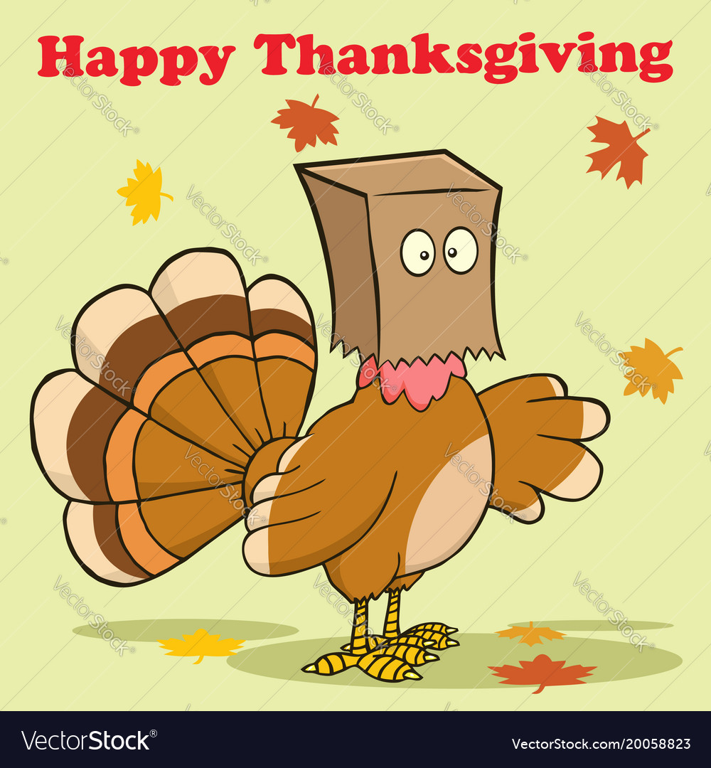 Happy thanksgiving greeting with turkey bird