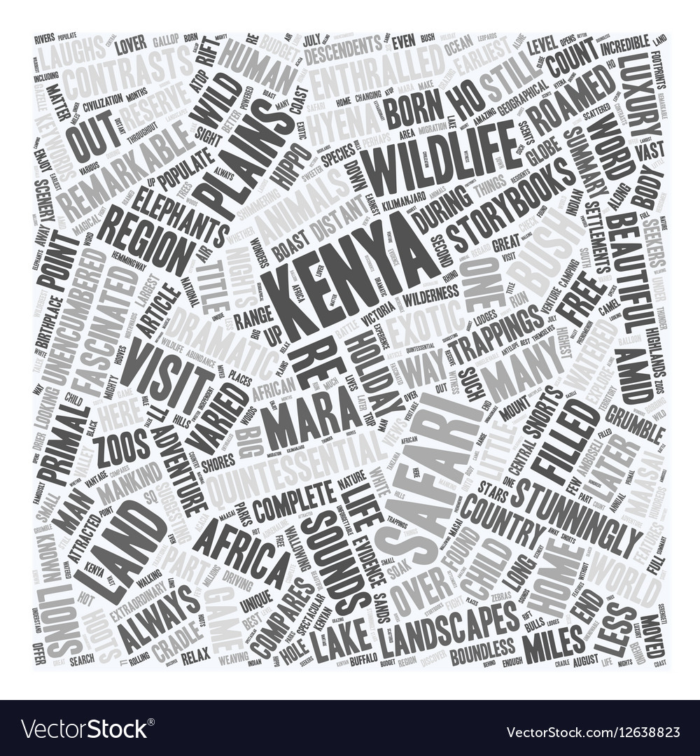 Kenya The Land Where Safari Was Born text