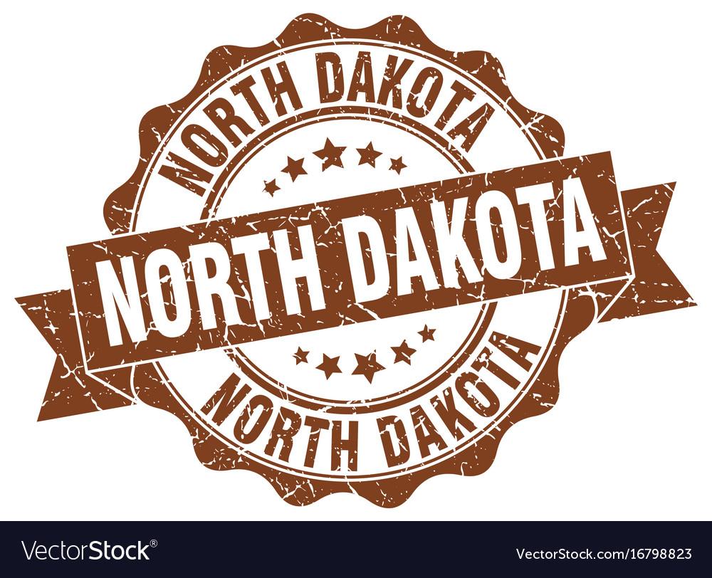 North dakota round ribbon seal