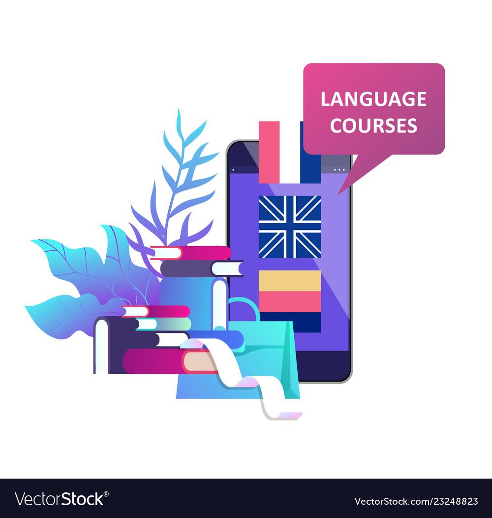 Online language courses distance education