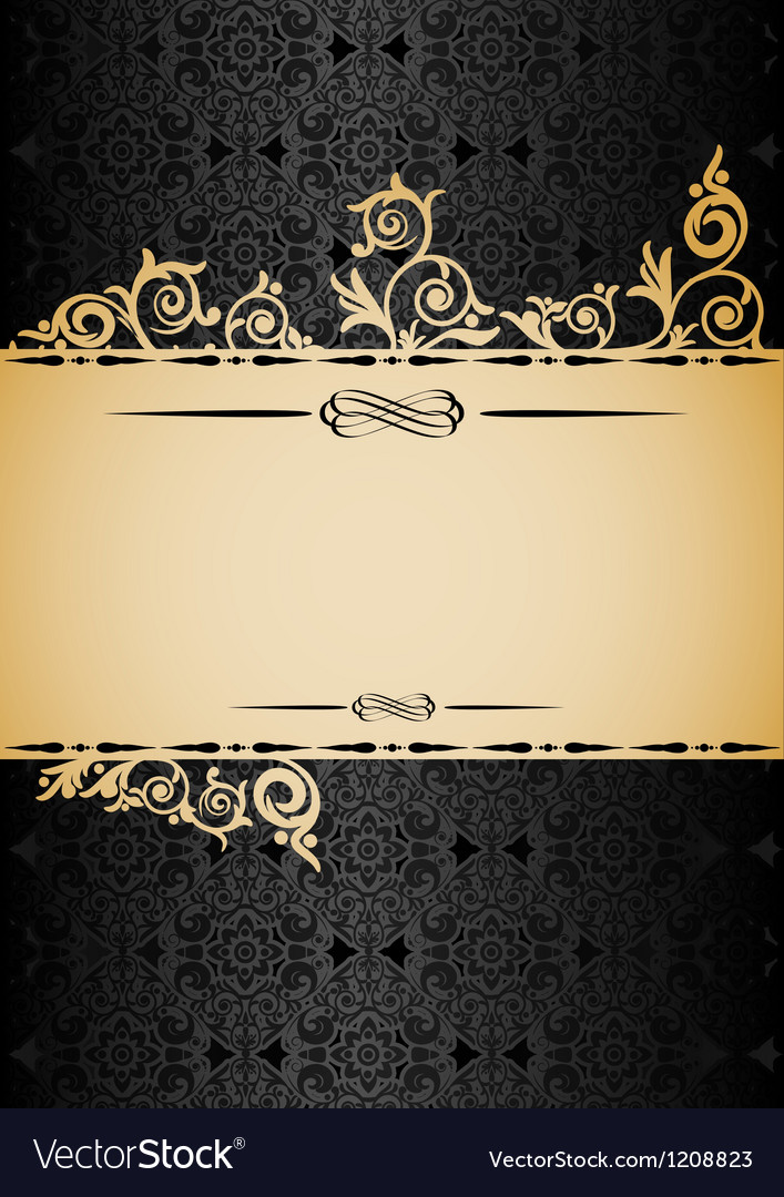 Retro paper background with seamless ornament and