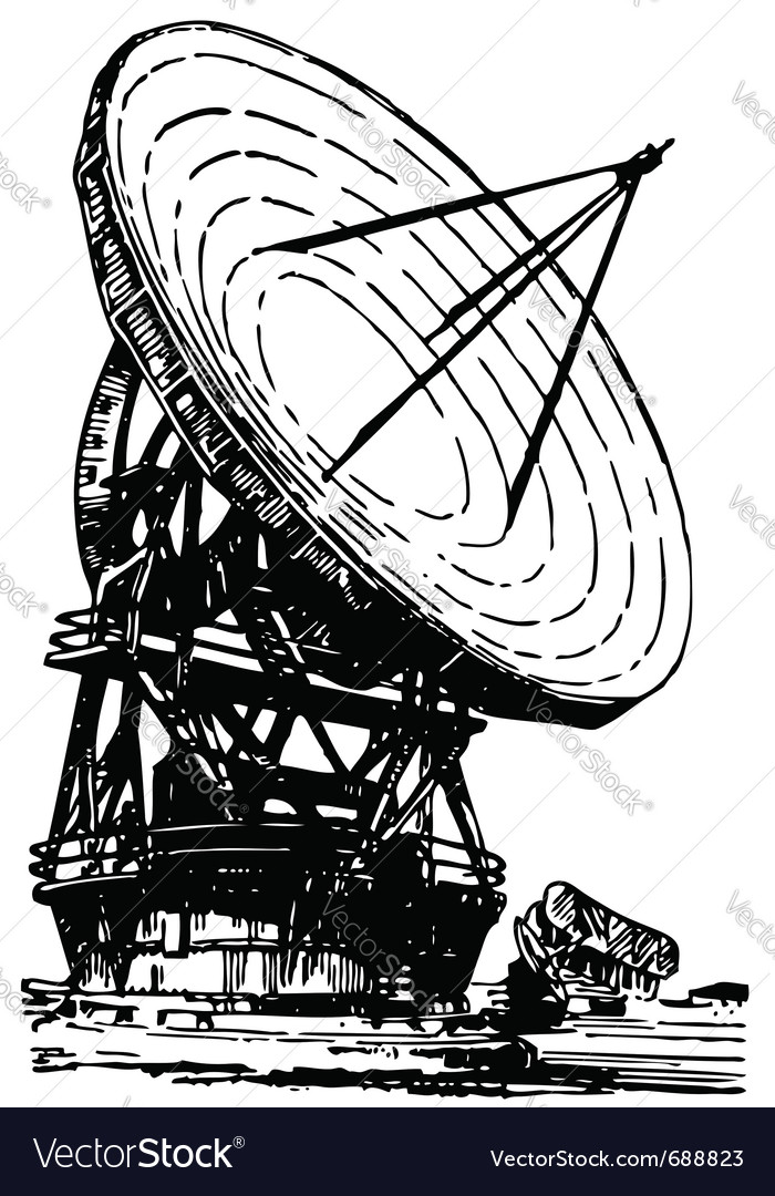 Satellite dishes antenna vector image