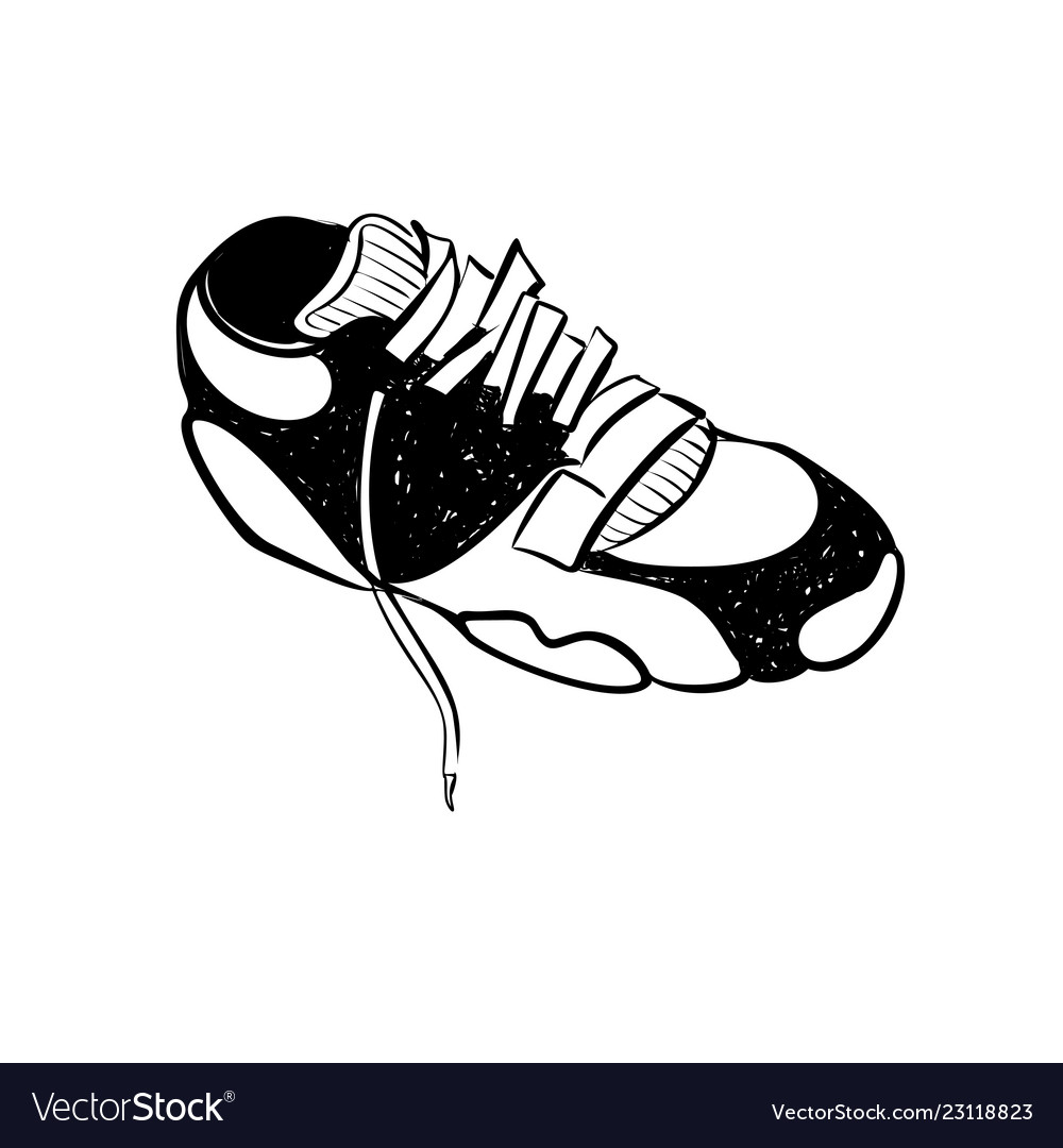 Sneaker running shoes glyph icon fitness and