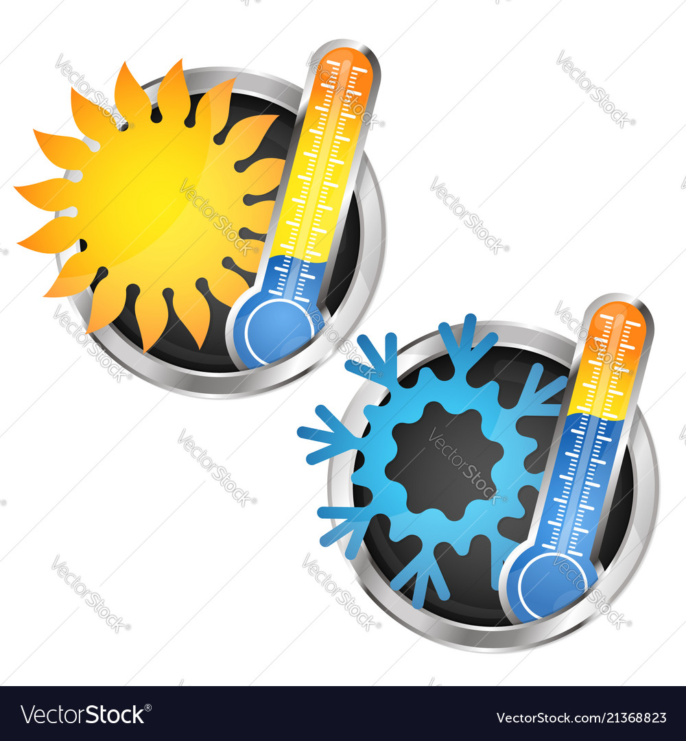 Thermometer sun and snowflake