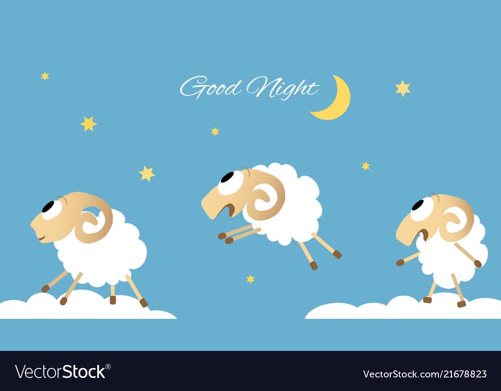 Three jumping sheep