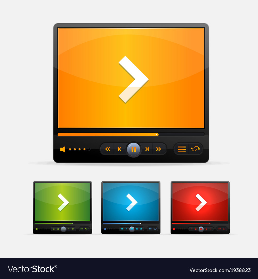 Video Player Skin colour set