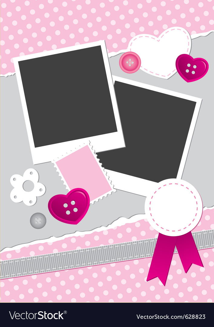 Vintage frame for photos vector image