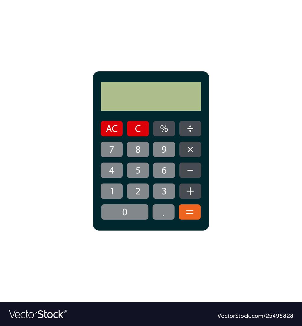 Calculator icon flat style