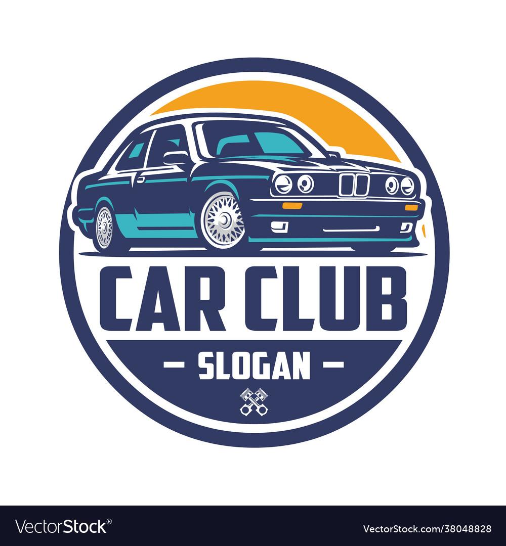 European car club logo isolated ready made logo