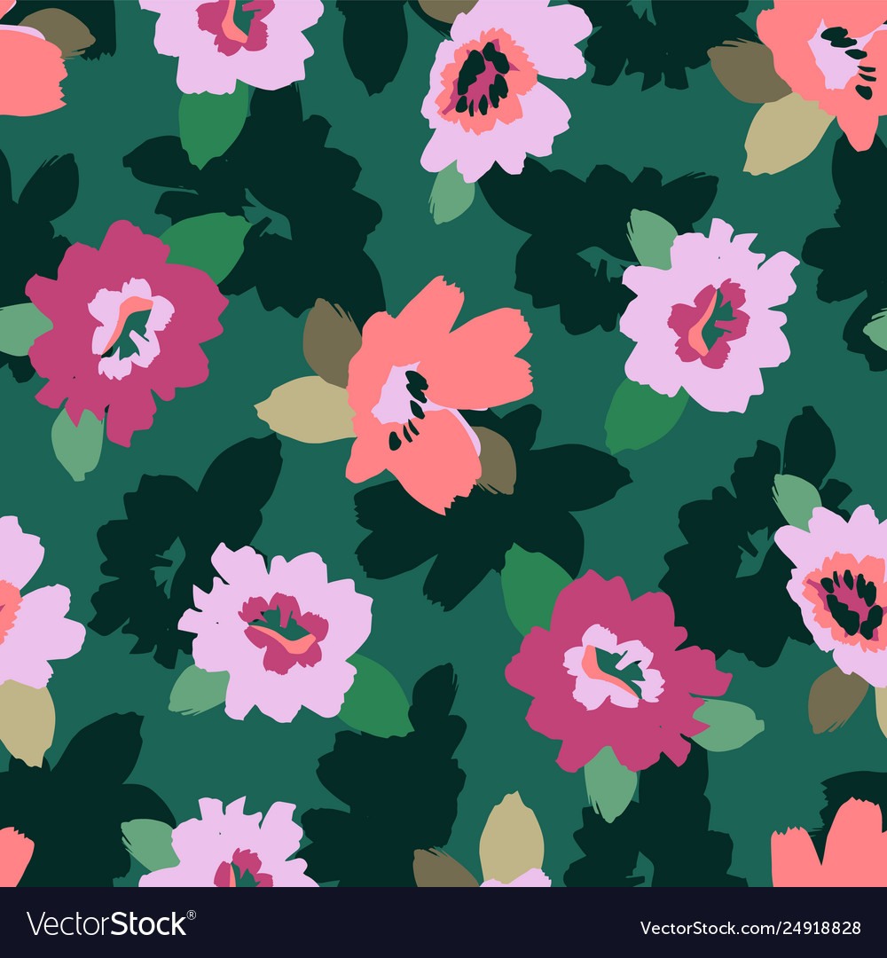 Floral abstract seamless pattern design