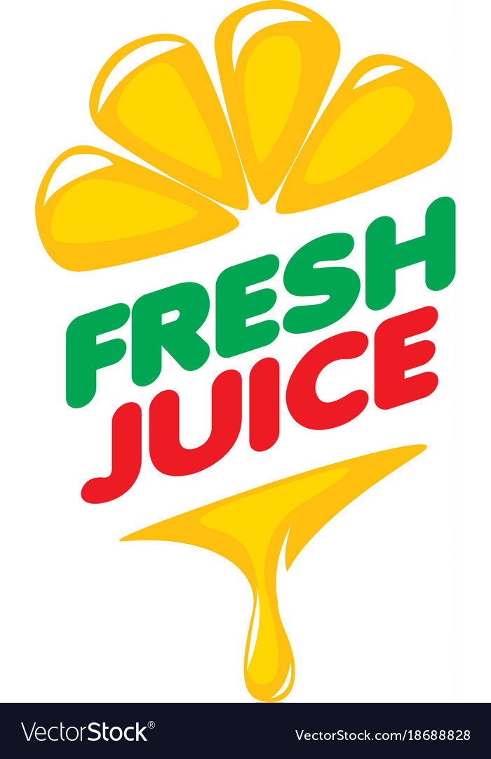 logo of fresh juice royalty free vector image vectorstock vectorstock