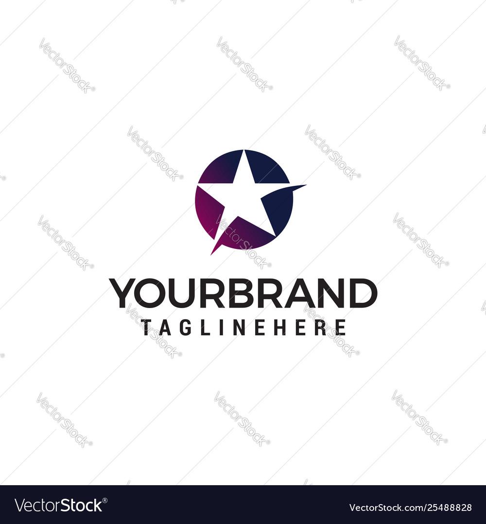 Star logo design concept template