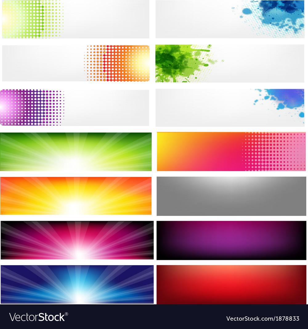 Big Set Abstract Banners vector image