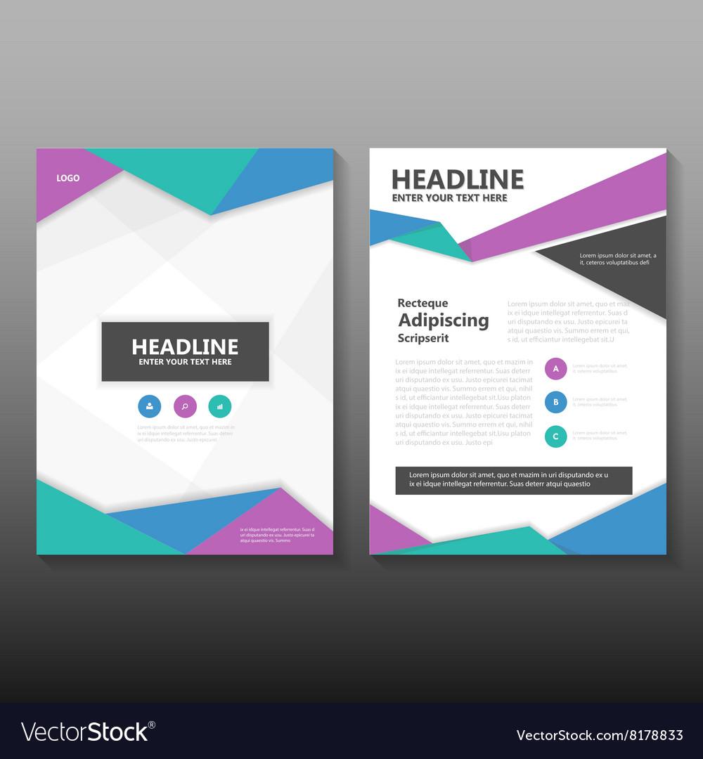 colorful leaflet brochure leaflet templates vector image - Colorful Brochure Templates
