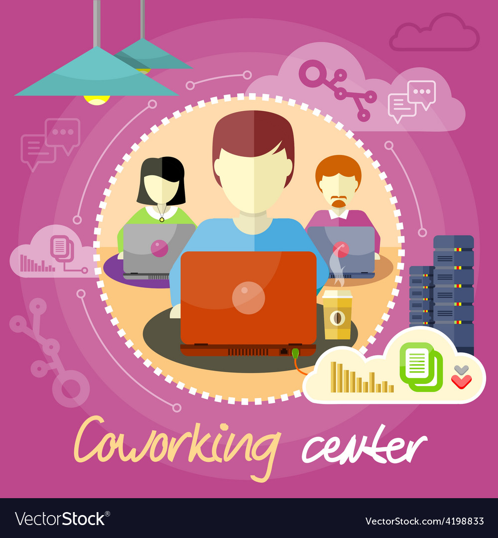 Coworking concept Business meeting vector image