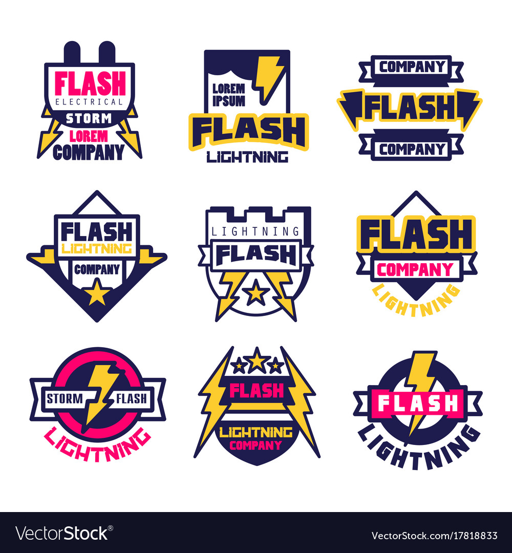 Flash electrical storm company logo design
