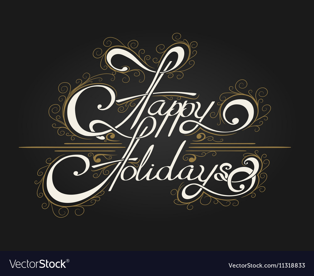 Happy Holidays Hand-writen Lettering