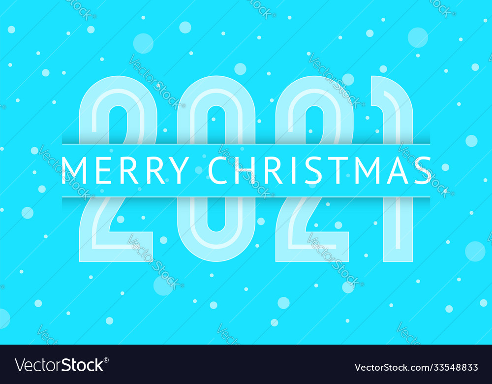 Merry christmas greeting card design 2021 year