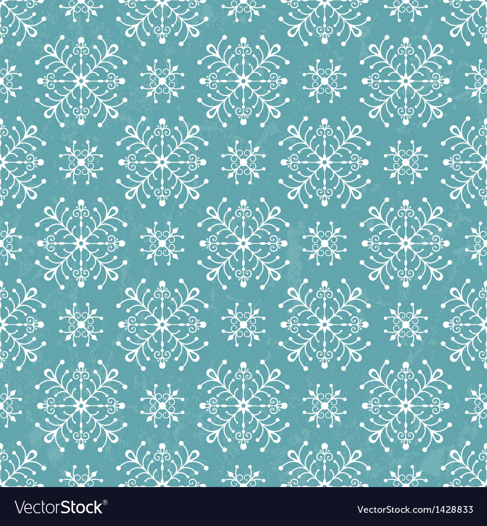 Seamless pattern with stylized snowflakes