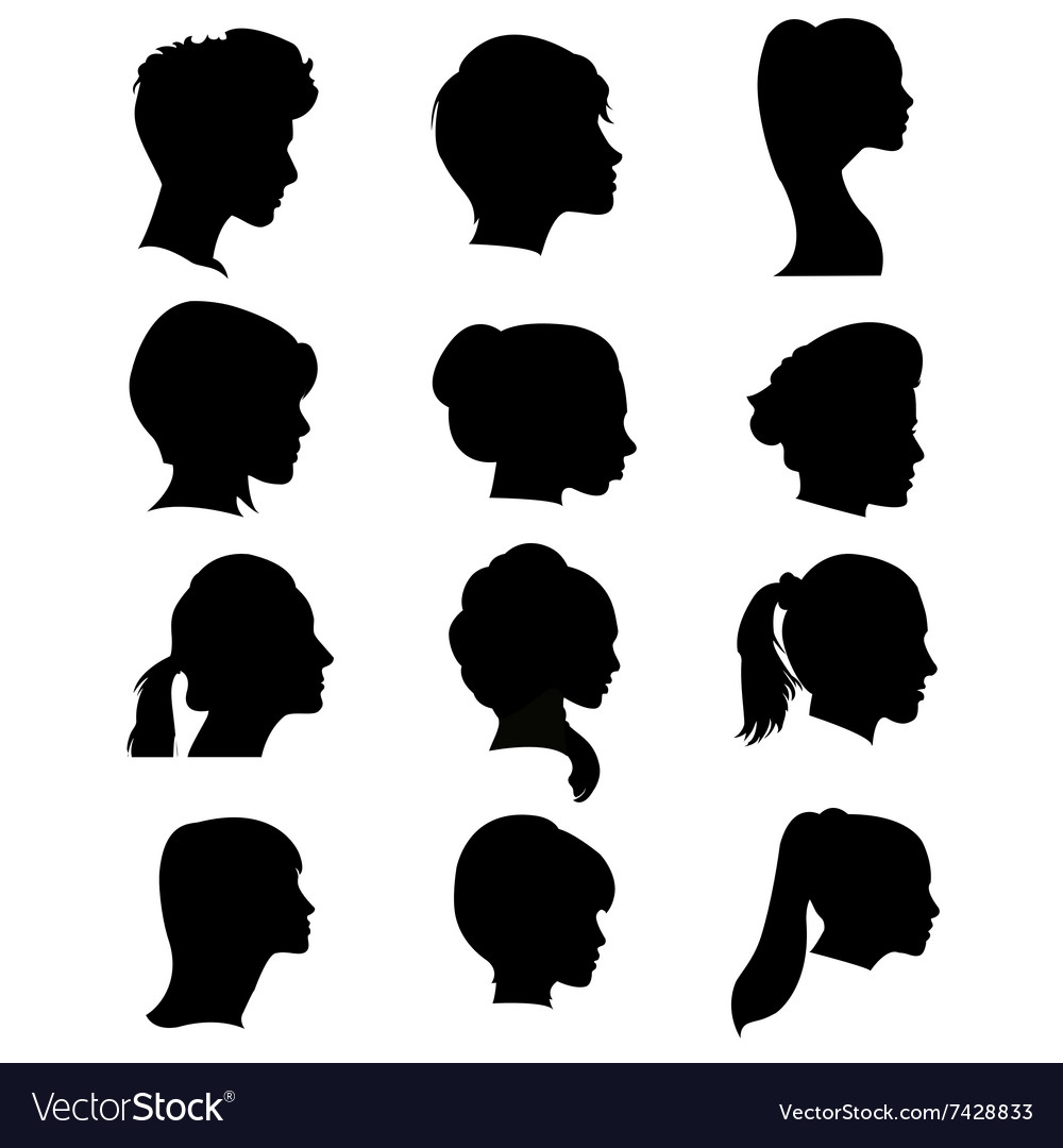 Silhouettes hairstyles