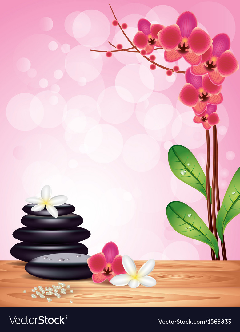 spa orchid pink background royalty free vector image
