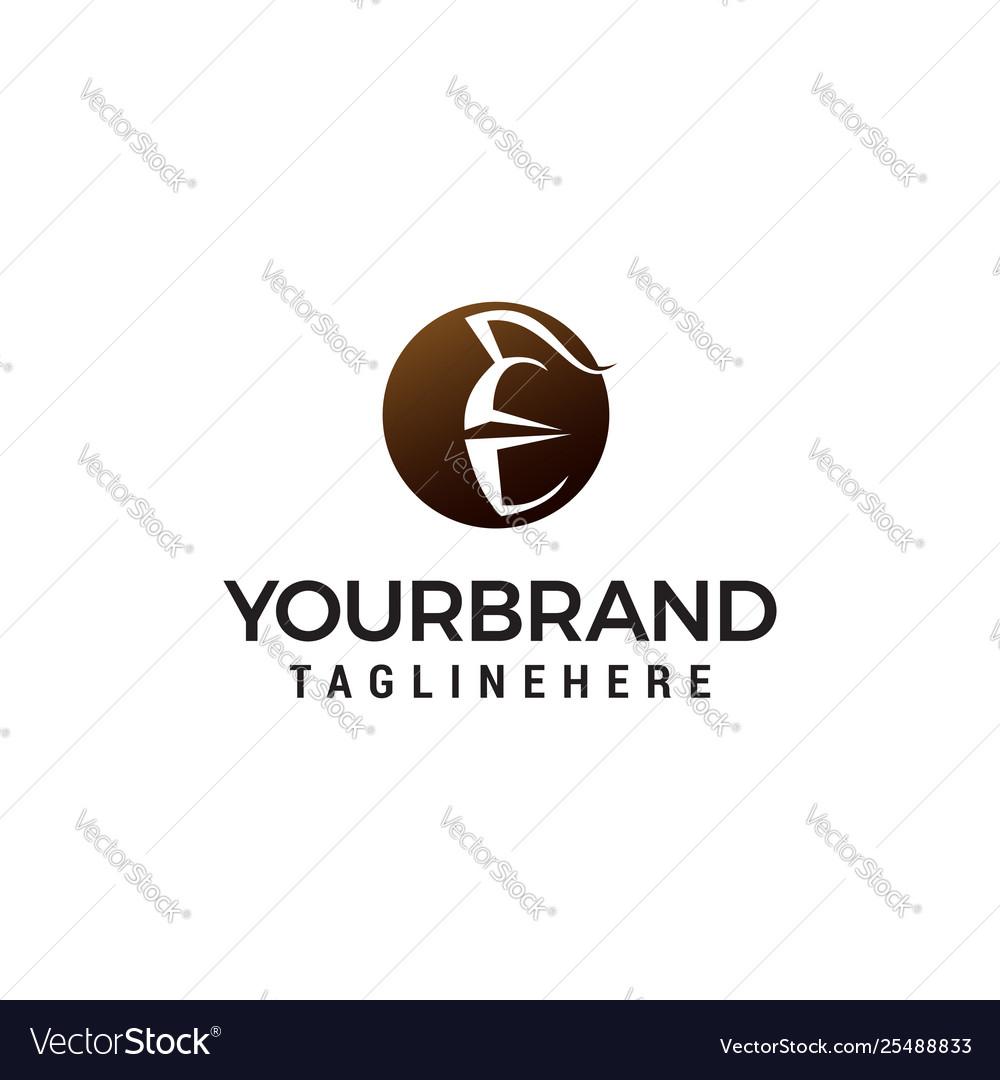 Spartan helmet logo design concept template