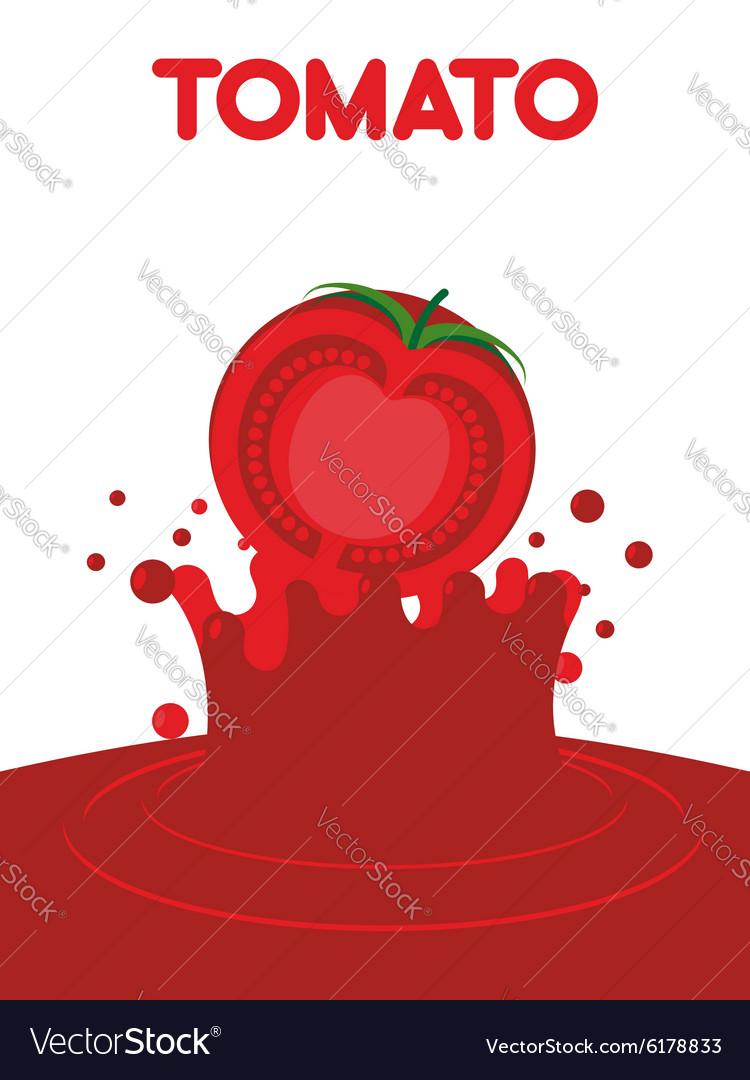 Tomato juice falls Splash of tomato juice