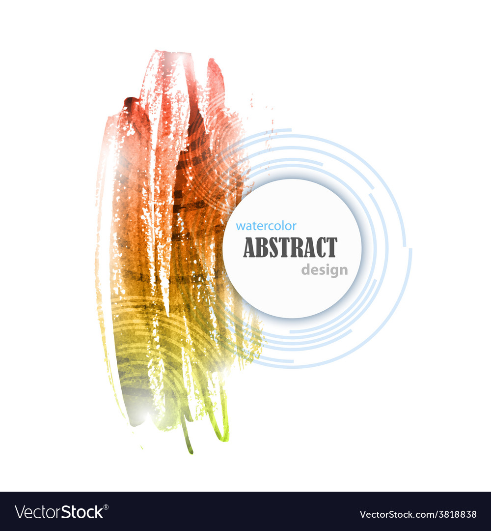 Abstract Watercolor Colorful Background Design