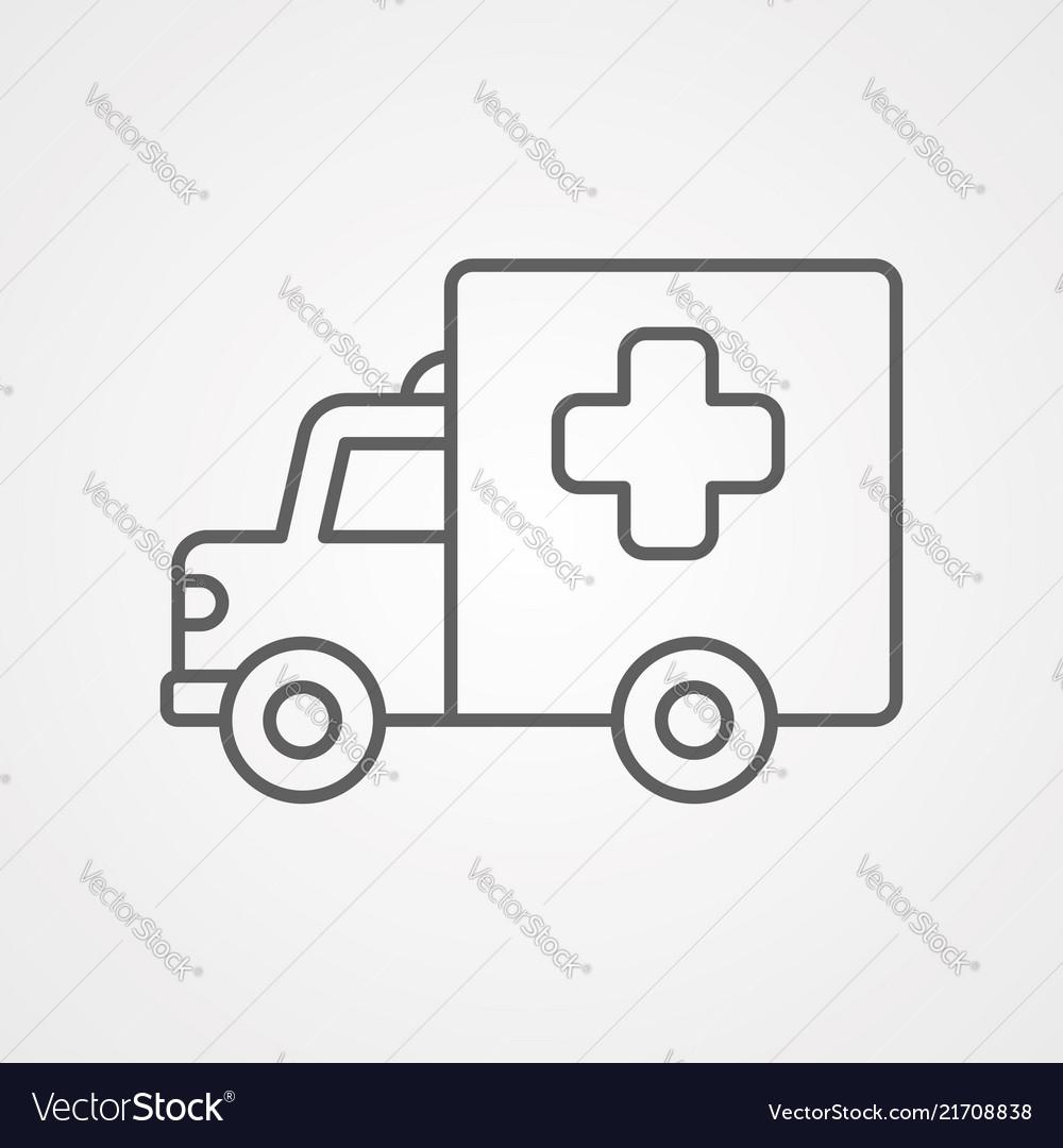 Ambulance icon sign symbol