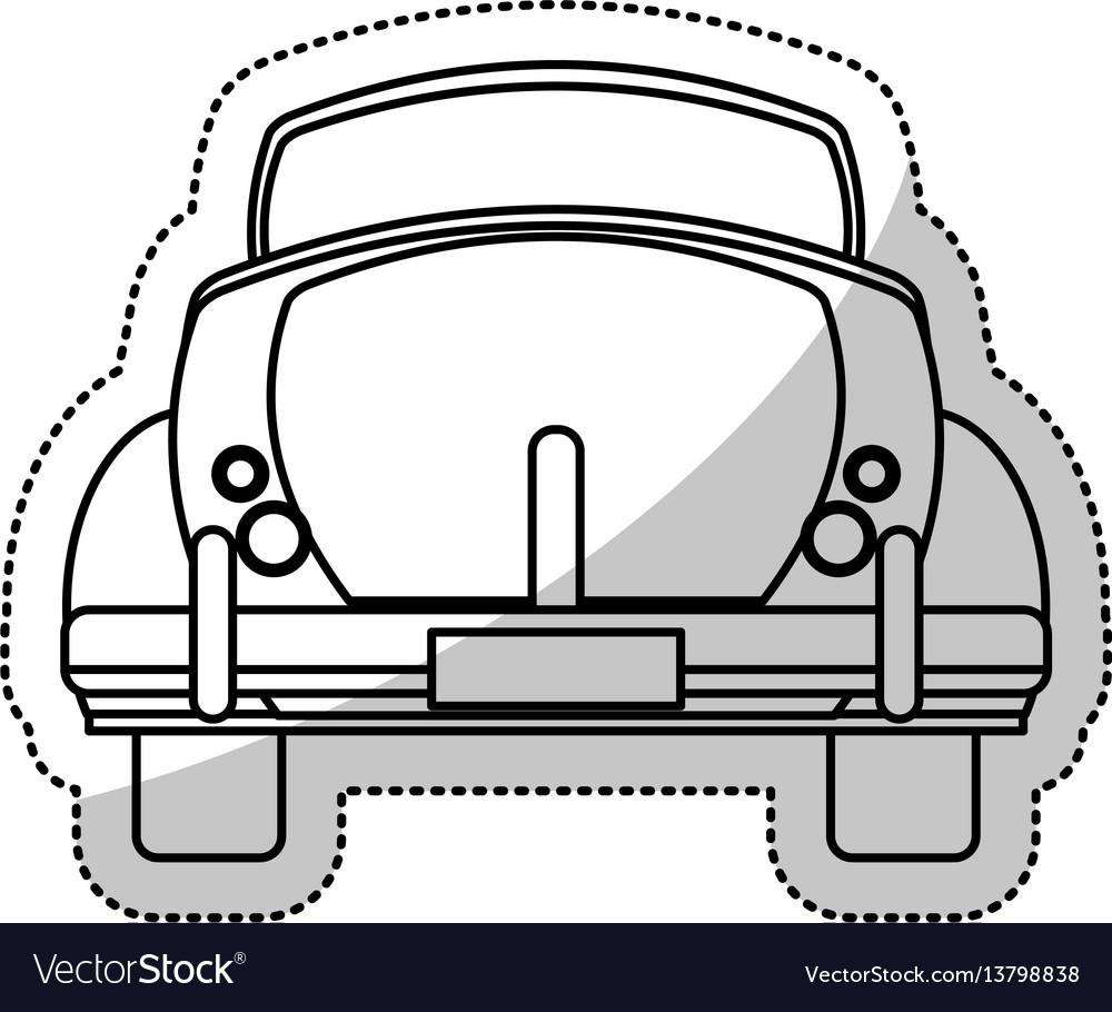 Car vintage transport outline
