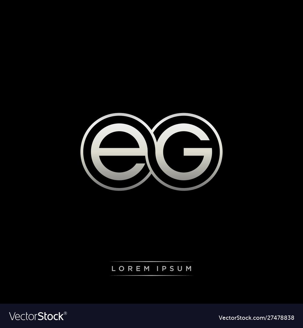 Eg initial letter linked circle capital monogram