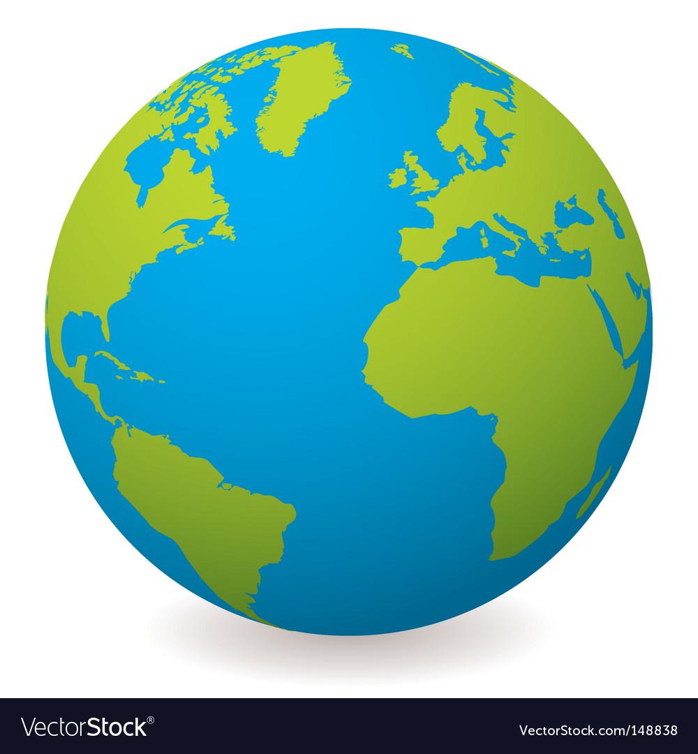 Natural earth globe