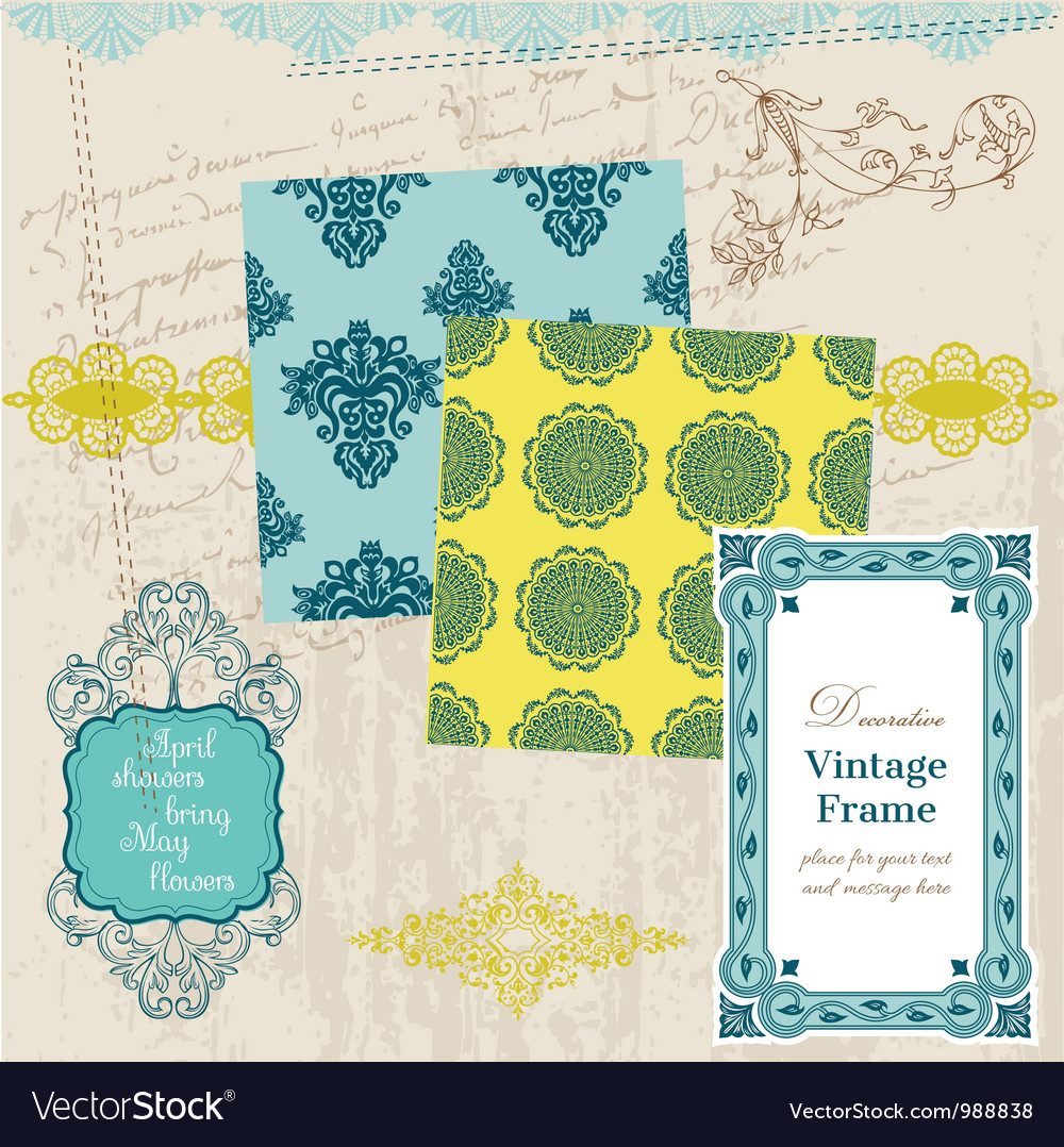 Scrapbook Design Elements - Vintage Tiles