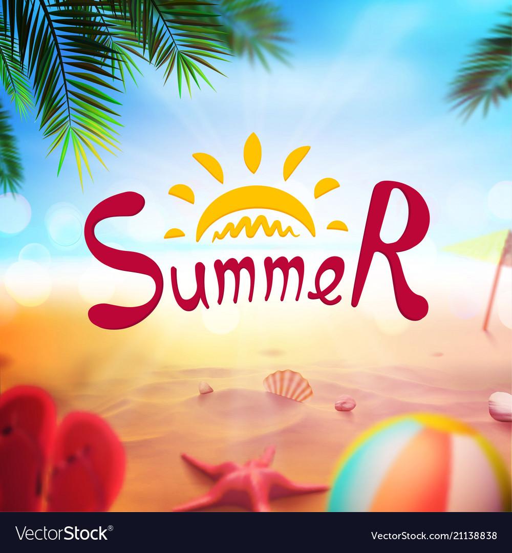 Stock realistic beach summer