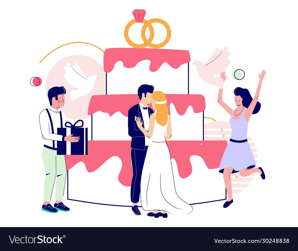 Wedding cake concept for web banner