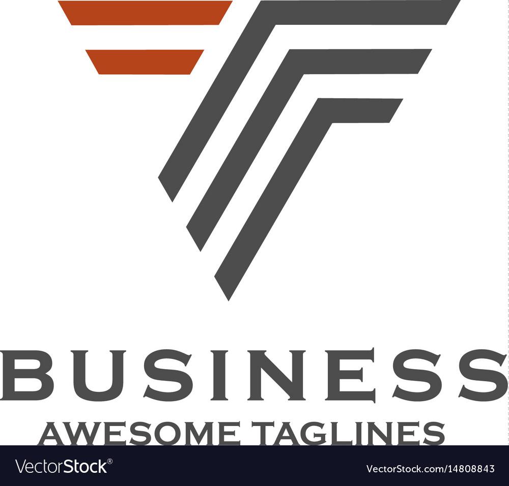 Creative letter t stripes logo